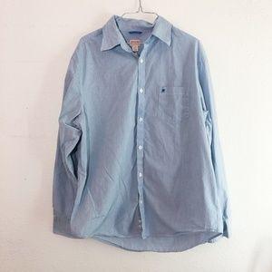 Merona Blue Striped Dress Shirt